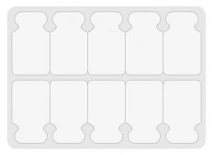 Eletrodo auto-adesivo para uso com clipe tipo jacaré